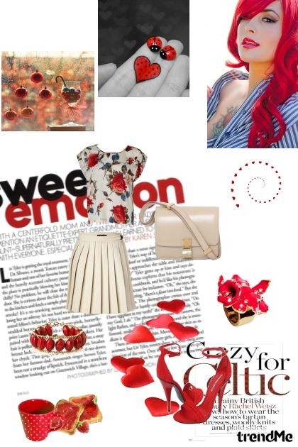 Red vintage look- Fashion set