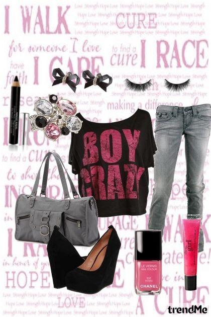 Pink & Black- Combinaciónde moda