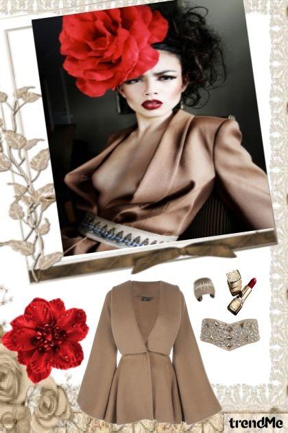 Red Flower- Fashion set
