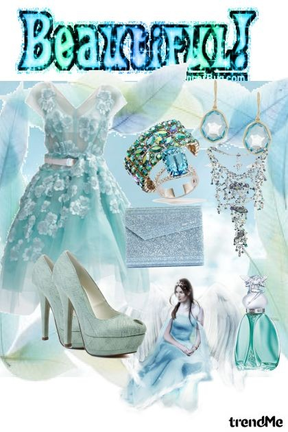 BEAUTIFUL BLUE- Fashion set