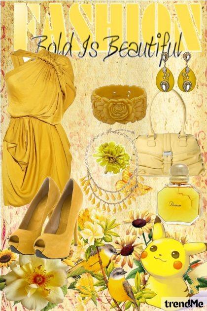 Yellow Bold is Beautiful- Fashion set