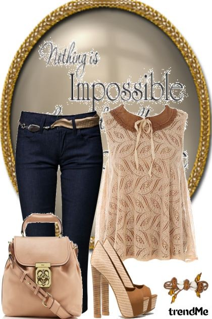 Nothing is impossible ..- Fashion set