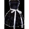 モノクロミニドレス - Dresses -