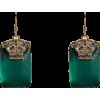 ALEXIS BITTAR Earrings Green - Uhani -