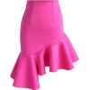 Chicwish Hot Pink Charm Asymmetric - Skirts -
