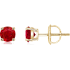 Classic Four Prong Set Ruby  - Earrings - $1,319.00