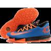 KD 6 VI (Dark Blue/Team Orang - Sneakers -