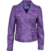 'MYSTIQUE' Ladies Purple Biker Style Mot - Chaquetas -