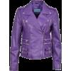 'MYSTIQUE' Ladies Purple Biker Style Mot - Kurtka -