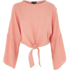 Topshop Womens TALL Knot Front Top - Pe - Shirts - 15.00€  ~ $17.46