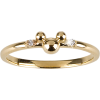 14 KT Gold and Diamond Mickey  - リング -