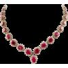 14 Karat White Gold Ruby and Diamond Nec - ネックレス -