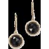 14k Gold Black Onyx & Diamond Earrings - Earrings -