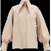 16ARLINGTON beige neutral blouse - Košulje - kratke -