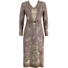 1930's Parisian Knit Embroidered Dress - Dresses -