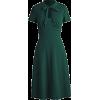1930s Vintage Open Chest Pencil Dress - Dresses -