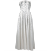1940's White Strapless Gown - Dresses -