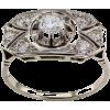 1940s Diamond White Gold Engagement Ring - Rings -