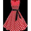 1950s Rockabilly Vintage Dresses for Women Retro Ladies Dresses Skater Dress Red - Kleider - £29.99  ~ 33.89€