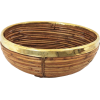 1970s rattan and brass bowl - Предметы -