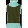 1990s Gianni Versace Green Knitted Vinta - Ärmellose shirts -