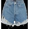 3X1 Carter high-rise frayed denim shorts - Shorts -