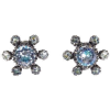 50S CHRISTIAN DIOR BLUE CRYSTAL EARRINGS - Aretes - £475.00  ~ 536.80€