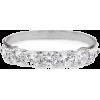 5 Diamonds Wedding Ring, Anniversary Dia - Rings -