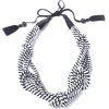 5 Knot Necklace- Black and White - Necklaces - $125.00
