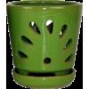 "5"" Lime Round Ceramic Orchid Pot - Plants -"