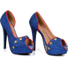 5-blue-glitter-pumps-with-nautical-theme - Scarpe classiche -
