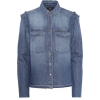 7 FOR ALL MANKIND Ruffled denim shirt - Camicie (lunghe) -