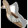 $825 Gold Satin Ribbon Detail Mules - Classic shoes & Pumps -