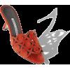 $845 Dark Orange Suede Cut-Out Mules - Sandals -
