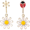 925 Silver Needle Korean Fashion flower earrings - Earrings -