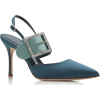 $995 Teal and Light Green Satin Crystal - Klasyczne buty -