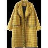 A4  plaid pattern coat - Kurtka -