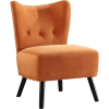 ACCENT orange velvet chair - Uncategorized -