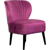 ACCENT purple velvet chair - Uncategorized -