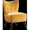 ACCENT yellow velvet chair - Uncategorized -