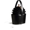 ACCORDION TOTE LEATHER HANDBAG Black - Torebki - $119.97  ~ 103.04€