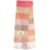 ACNE STUDIOS Striped alpaca, wool and mo - Bufandas -