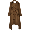 ADAM LIPPES brown trench coat - Jacket - coats -