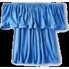 AE blue off shoulder ruffle tee - T-shirts -