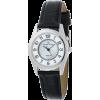 AK Anne Klein Women's 10-7909MPBI Silver-Tone Easy to Read Instalite Black Leather Strap Watch - Relógios - $55.00  ~ 47.24€