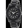 AK Anne Klein Women's 10/9181BKBK Black Ion-Plated Bracelet with Resin Center Links Watch - 手表 - $75.00  ~ ¥502.53