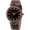 AK Anne Klein Women's 10/9837BNSN Brown Ion-Plated Snake Skin Print Leather Watch - Satovi - $75.00  ~ 476,44kn