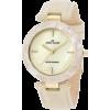 AK Anne Klein Women's 10/9852CMIV Gold-Tone Cream Leather Strap Watch - Ure - $54.56  ~ 46.86€