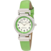 AK Anne Klein Women's 10/9887MPLG Leather Silver-Tone Easy-To-Read Green Leather Strap Watch - Satovi - $55.00  ~ 349,39kn