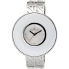 AK Anne Klein Women's 108603WTSV Silver-Tone and White AKAK Logo Bangle Watch - Watches - $69.50